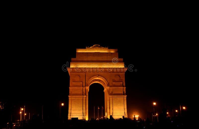 照亮印度的门 免版税库存图片