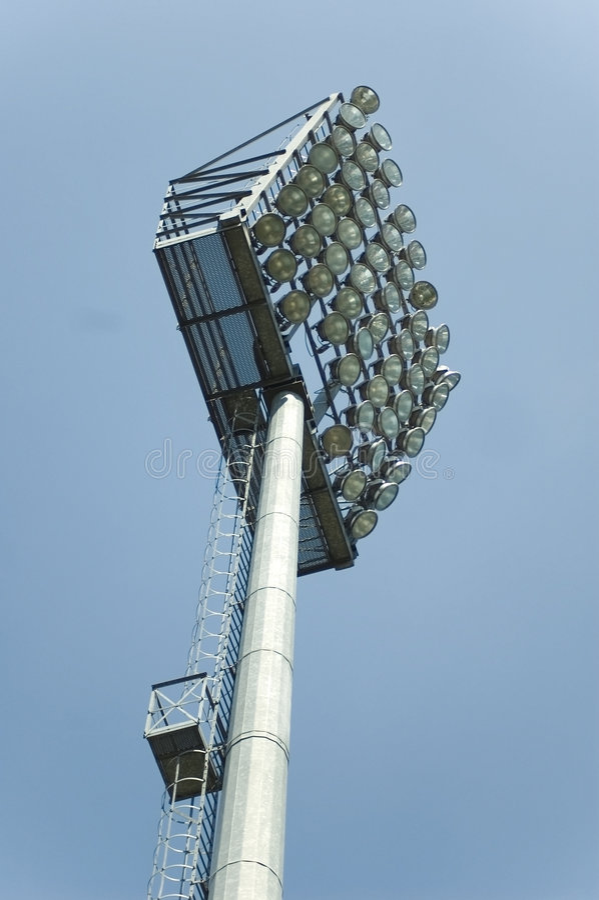 照明设备体育场 库存照片