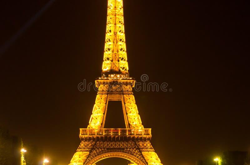 照明设备埃佛尔铁塔在巴黎,法国 库存图片