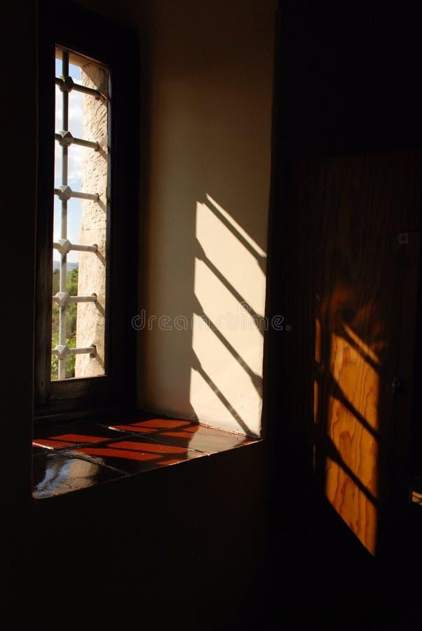 照明设备影子视窗 图库摄影