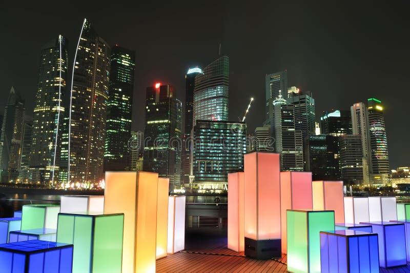 照明设备新加坡地平线 库存图片