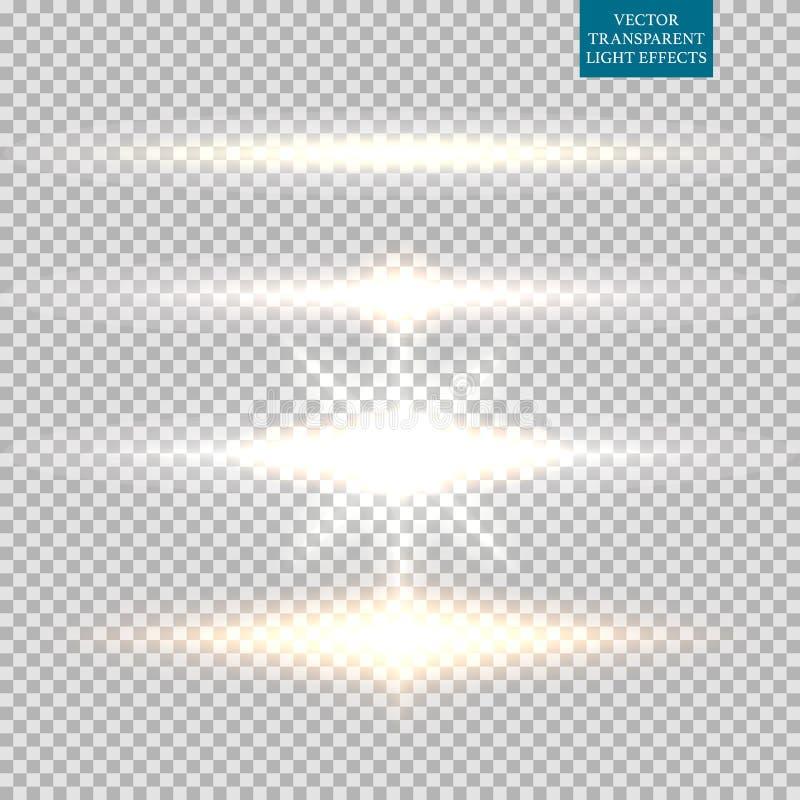 照明设备火光的抽象图象 集合 皇族释放例证