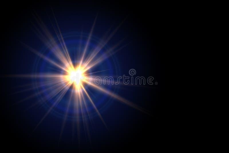 照明设备火光的抽象图象 向量例证