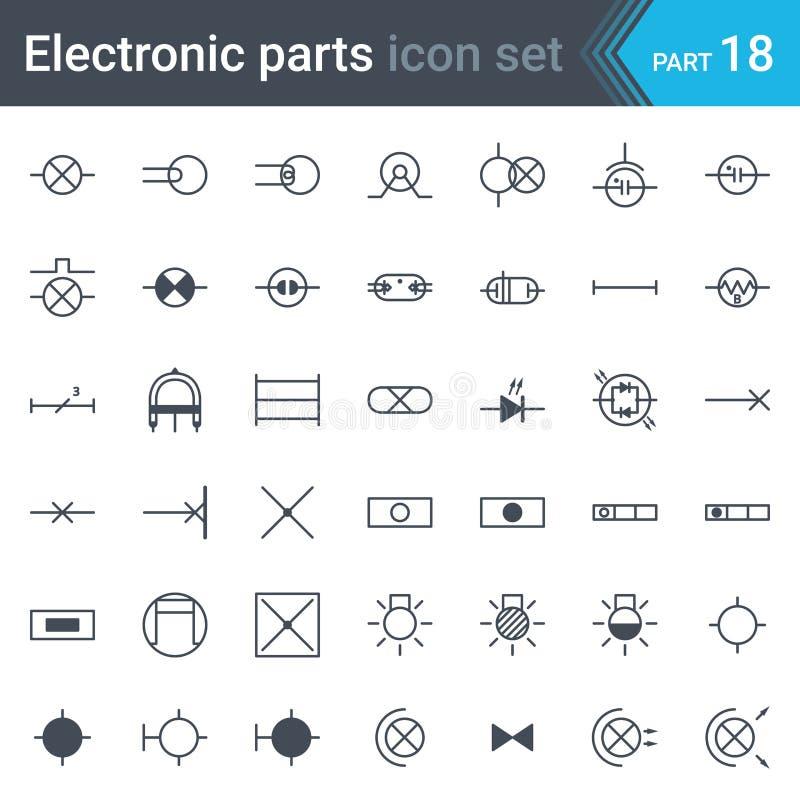 照明设备电符号集