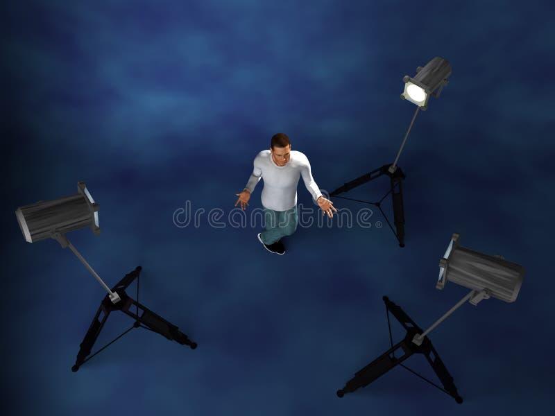 照明设备设置工作室 库存图片