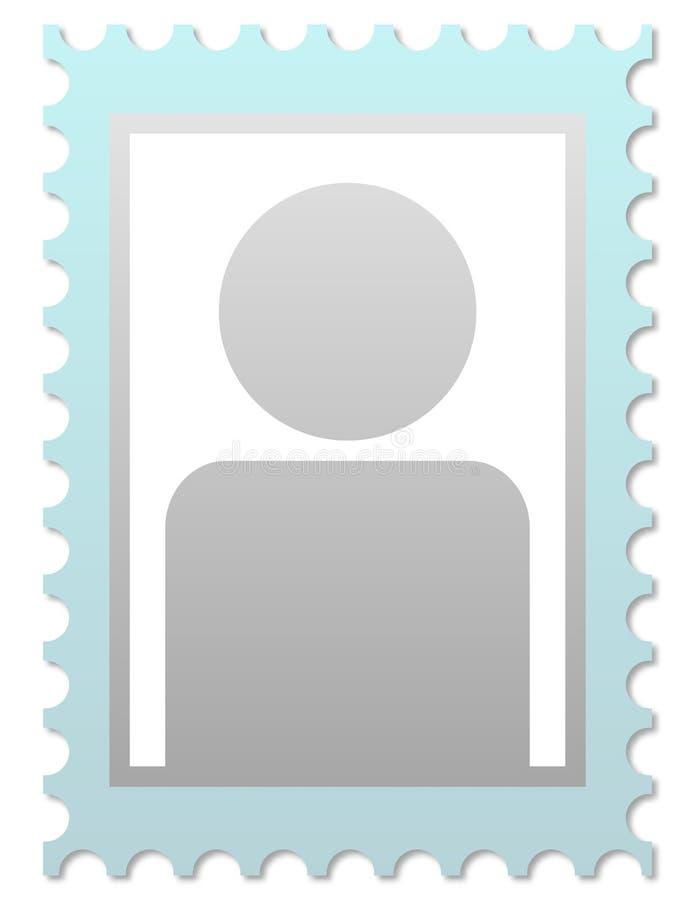 照片占位符 库存例证