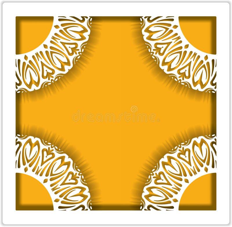 照片卡片的典雅的鞋带正方形框架,婚姻的邀请o 皇族释放例证