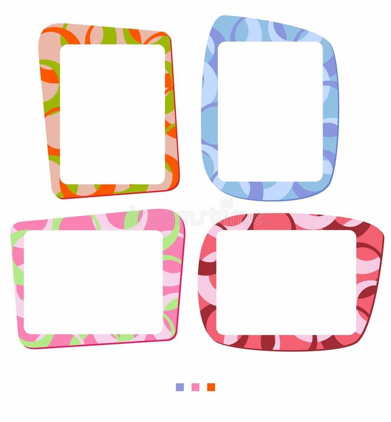 照片或例证的传染媒介五颜六色的框架 向量例证
