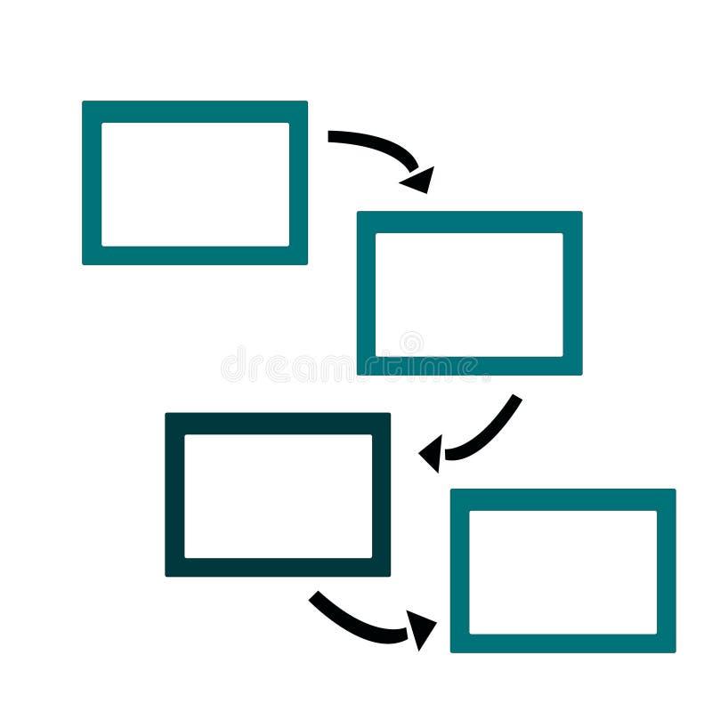 照片或文本的框架与箭头 皇族释放例证