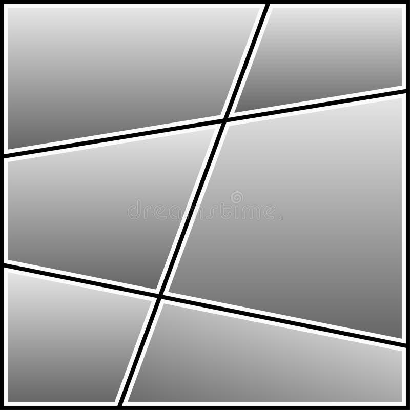 照片拼贴画模板 摄影图象的空白的框架 向量 皇族释放例证