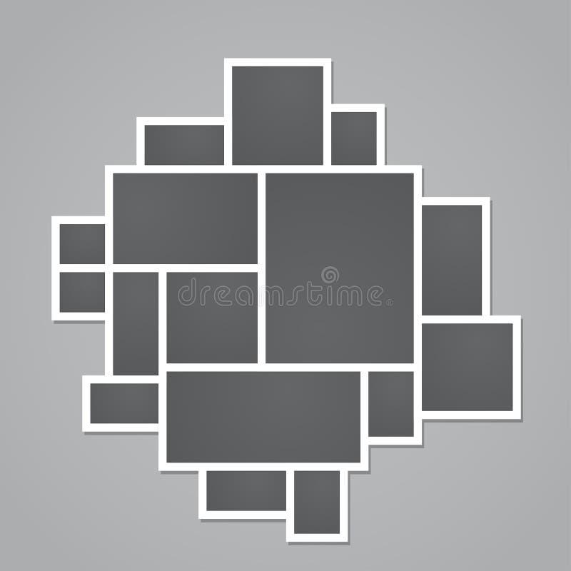 照片拼贴画模板 库存例证