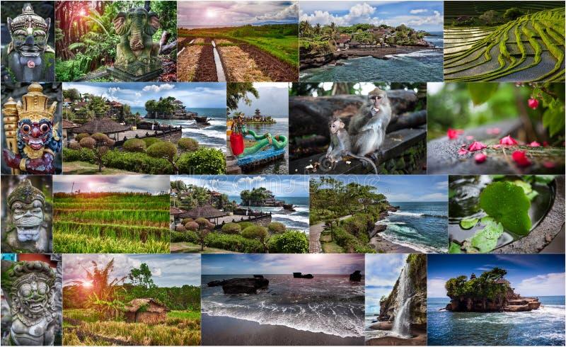 照片拼贴画从巴厘岛的 印度尼西亚 免版税库存照片