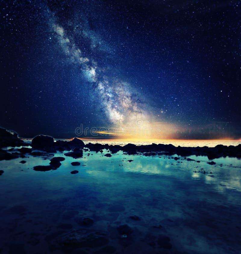 照片操作:天空和海 库存图片