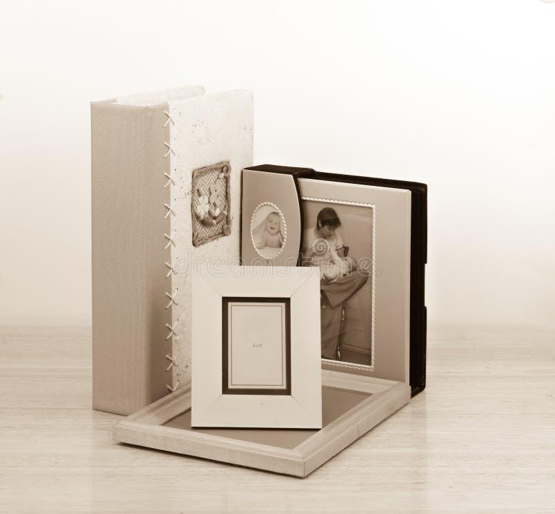 照片框架和册页 摄影商店 免版税图库摄影