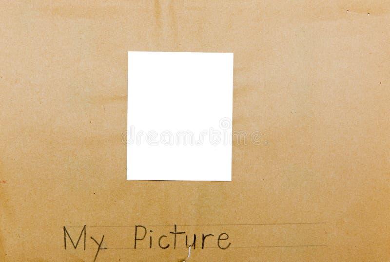照片框架孩子隔绝了我的图片 库存照片