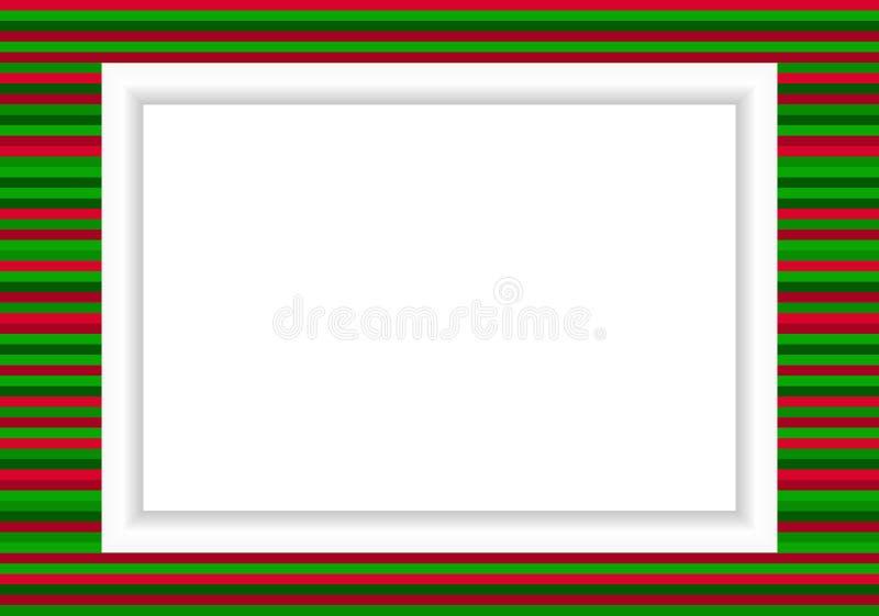 照片框架- Xmas样式 皇族释放例证