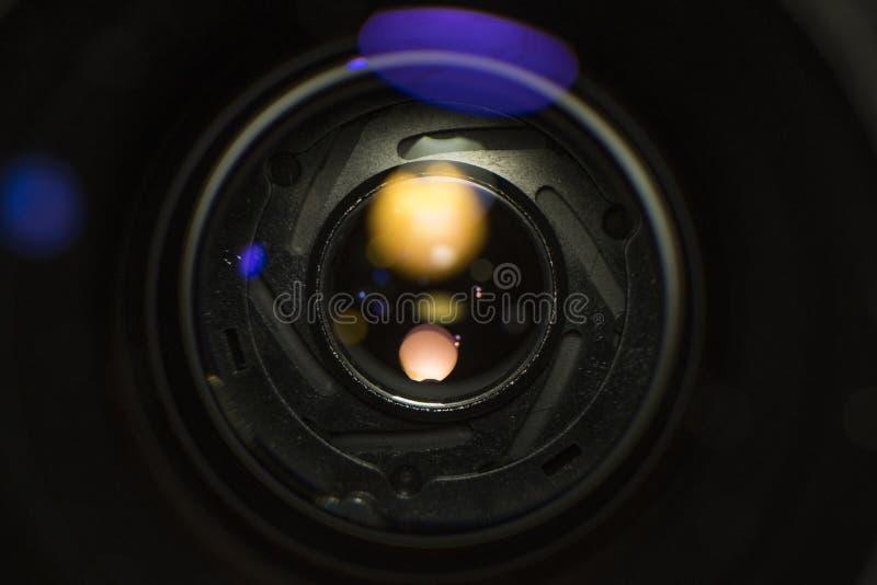 照片照相机宽透镜前面玻璃 库存图片