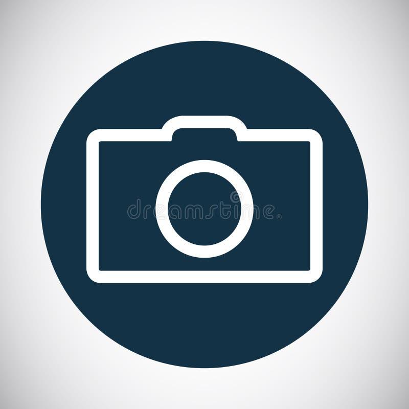 照片照相机线艺术象标志传染媒介例证 库存例证