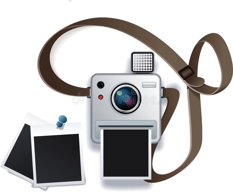 照片照相机 库存例证