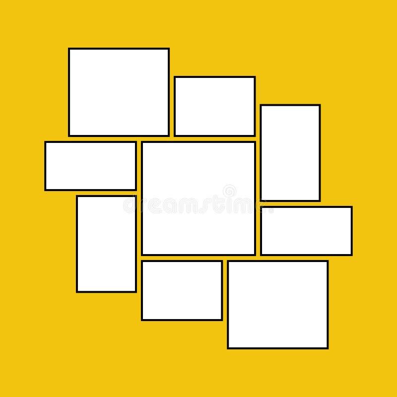 照片的传染媒介框架 向量例证