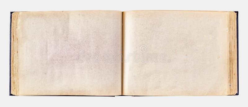 照片的老被染黄的相册 免版税库存图片