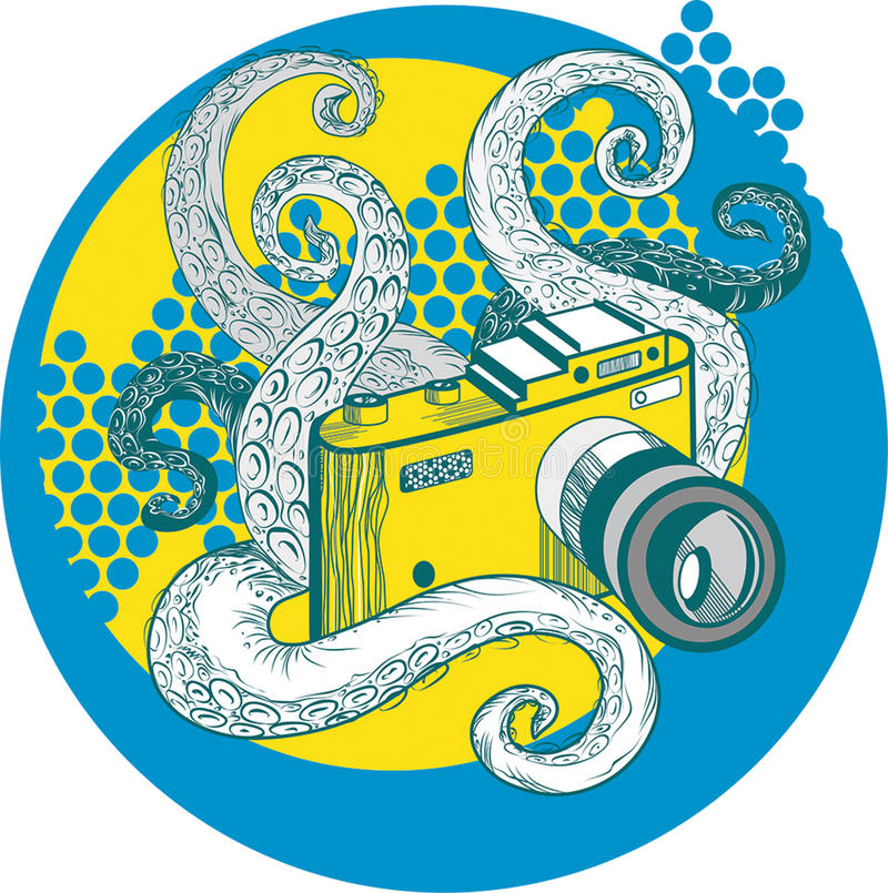 照片章鱼 免版税库存图片