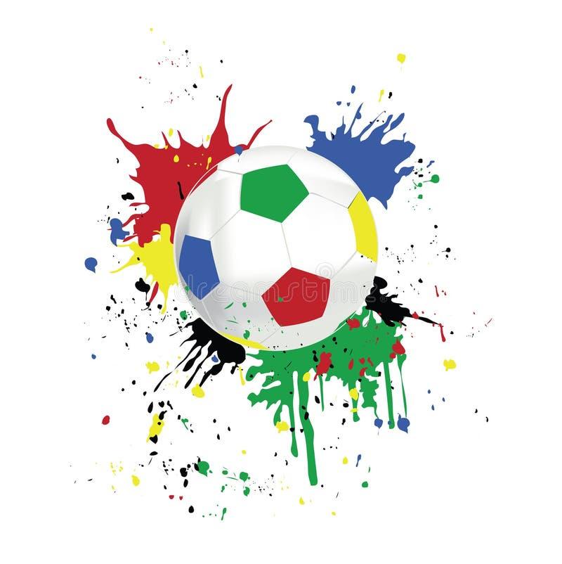照片足球 向量例证