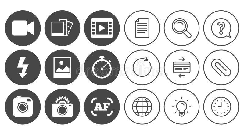 循环录像_插画 包括有 影片, 地球, 图标, 循环, 框架, 闪光 - 97079451