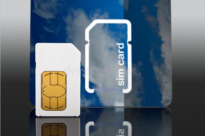 新的手机sim卡片 库存图片