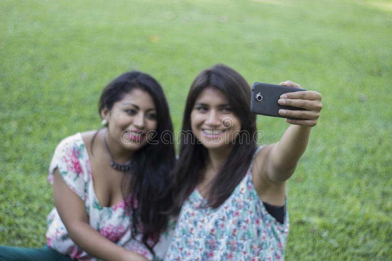 照片selfie,女孩照片selfie 库存图片