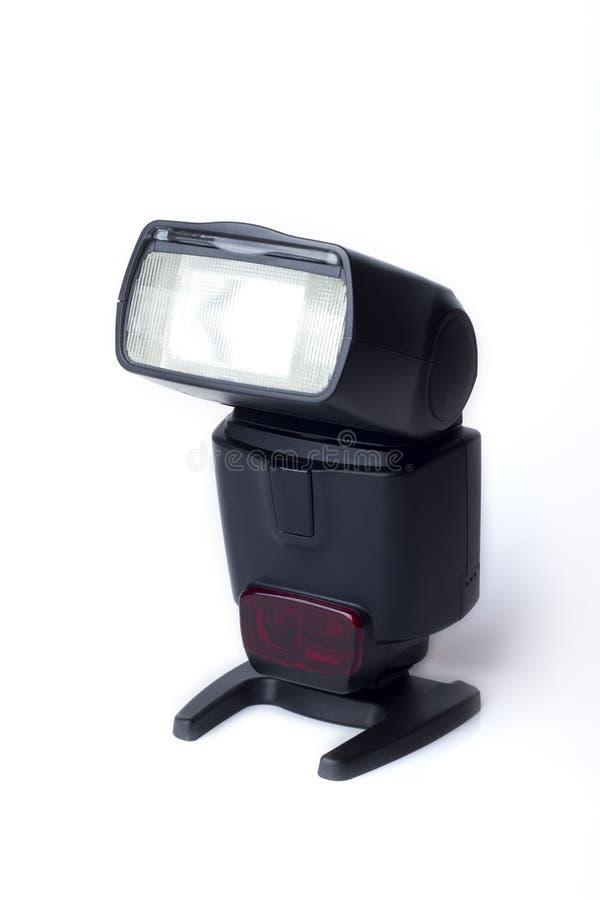 照相机一刹那speedlight 库存照片