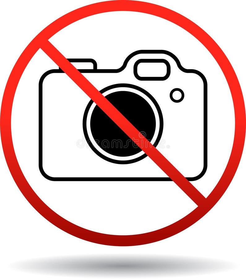 照相机不允许的标志 向量例证