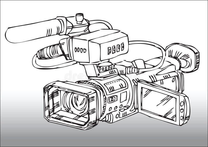 照相机专业人员录影 库存例证