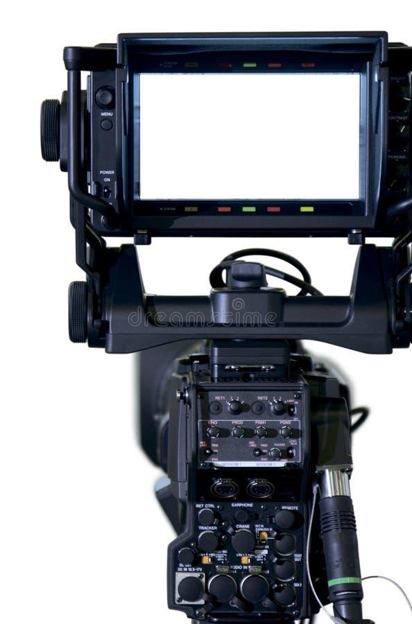 照相机专业电视反光镜 免版税库存照片