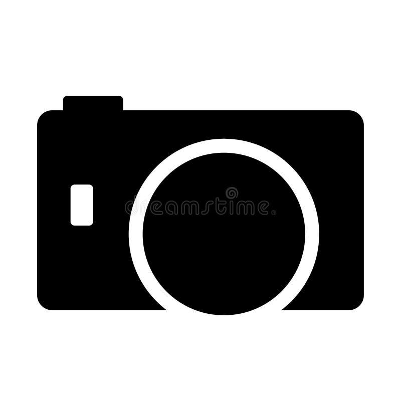 照相机例证的概要看法 库存例证
