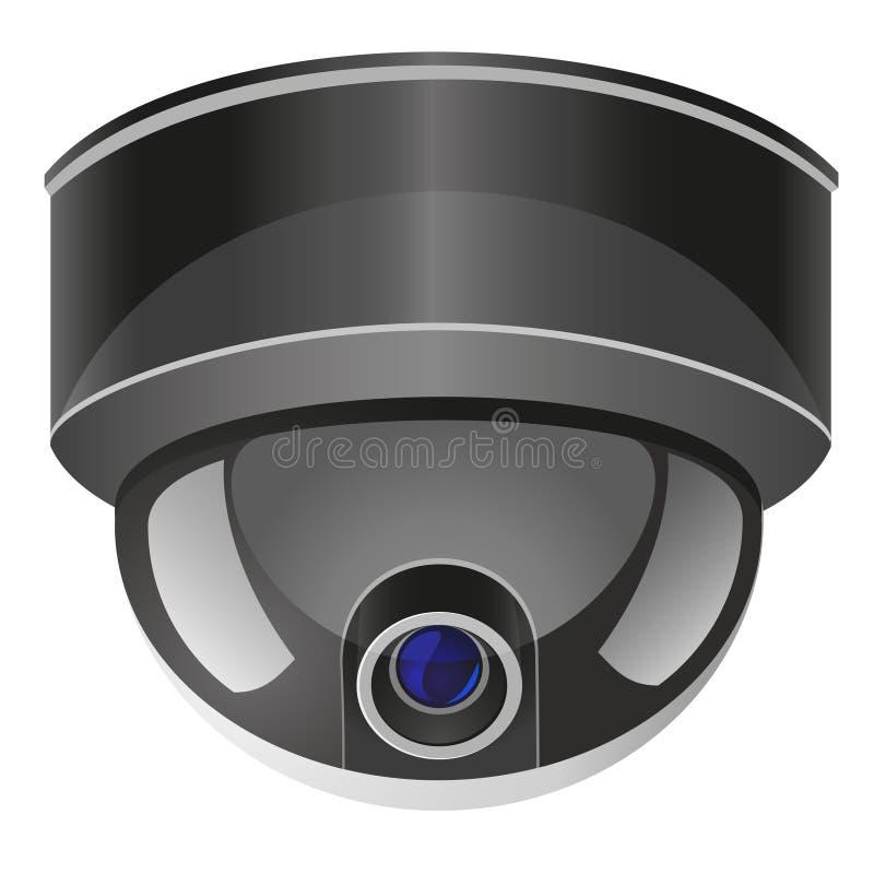 照相机例证监视向量录影 向量例证