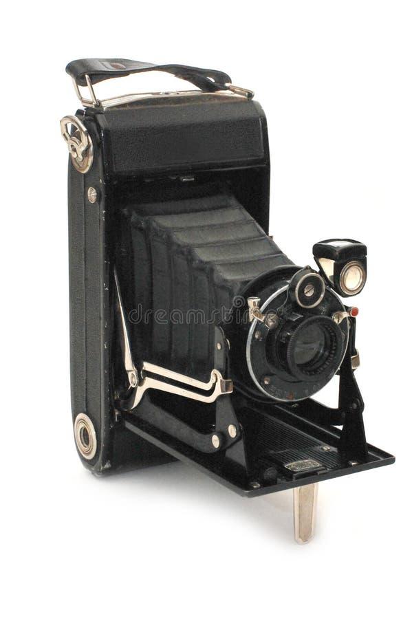 照相机减速火箭格式的媒体 免版税库存照片