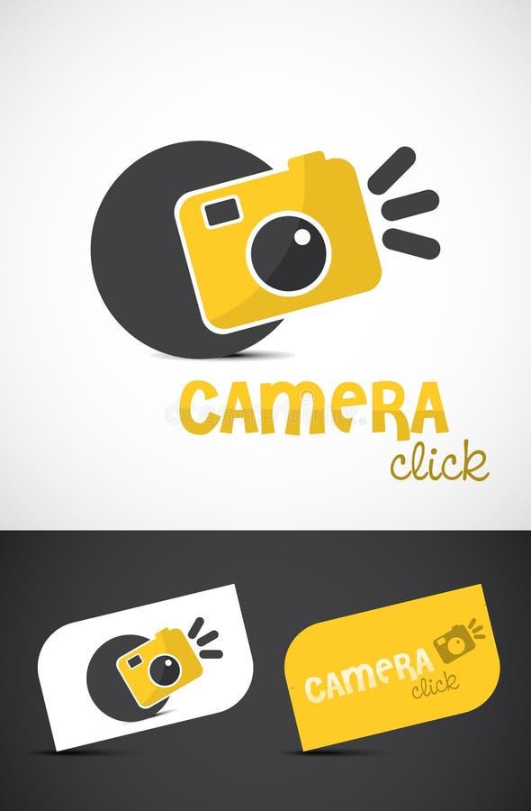 照相机创造性的徽标 皇族释放例证