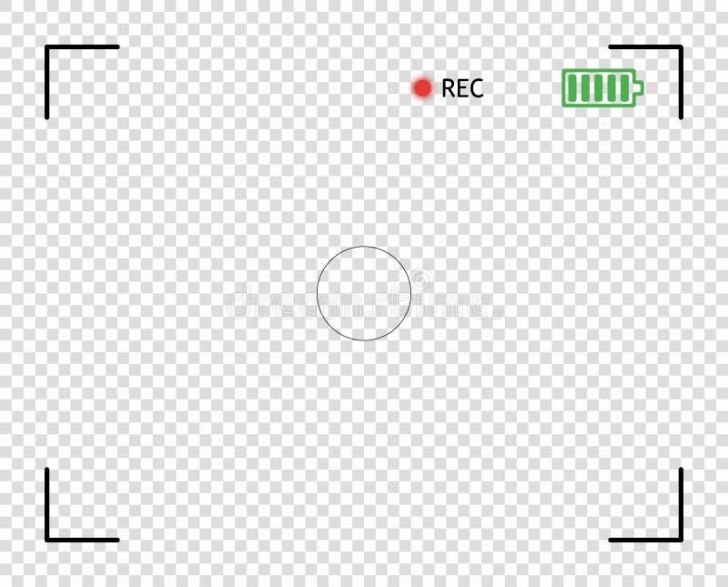 照相机反光镜,数字录影,照片焦点 元素传染媒介覆盖物银幕框架毗邻快照 透明的背景 皇族释放例证