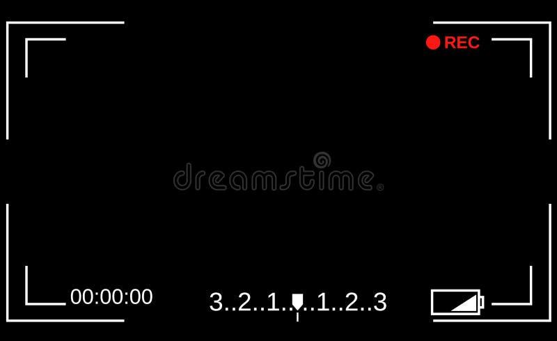 照相机反光镜 照相机的模板聚焦的屏幕 皇族释放例证