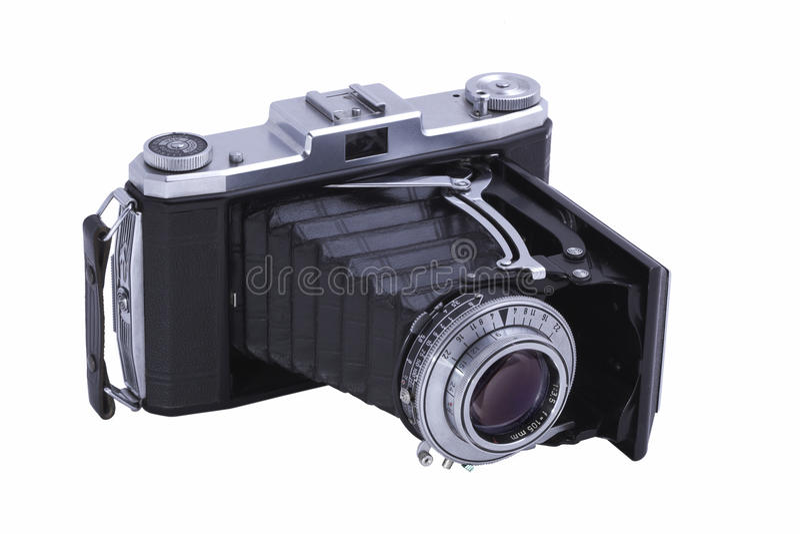照相机可折叠查出 免版税图库摄影