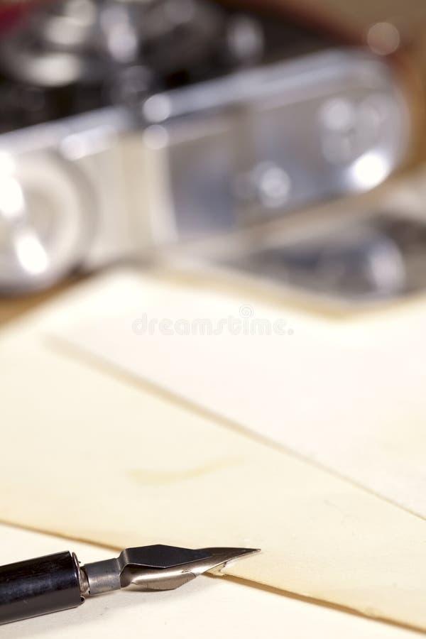 照相机墨水老笔照片葡萄酒 库存图片