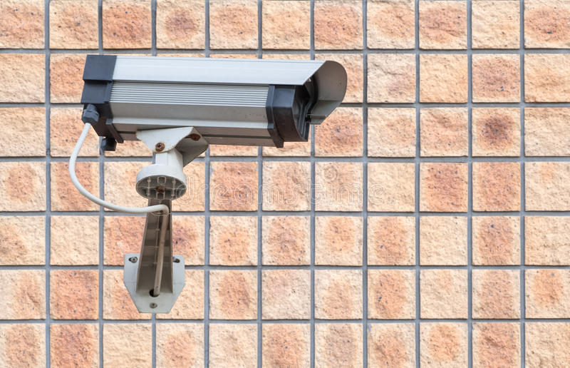 照相机安全系统录影墙壁 免版税库存图片