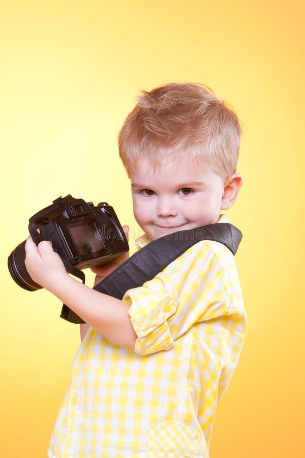照相机小摄影师专业显示 库存照片