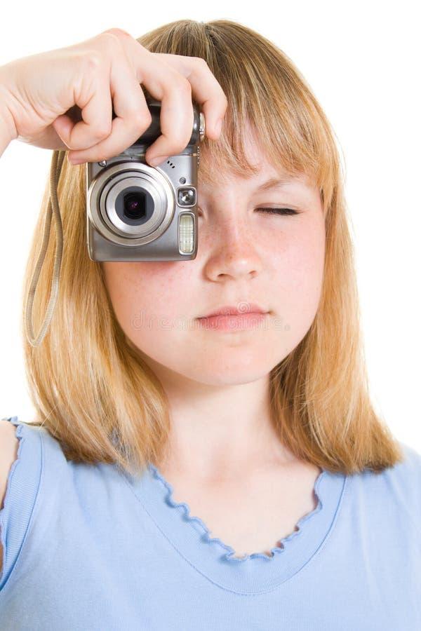照相机少年 免版税库存照片
