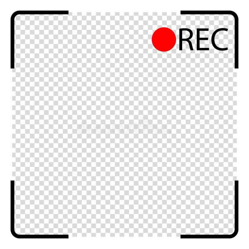 照相机屏幕陈列录音过程中 皇族释放例证