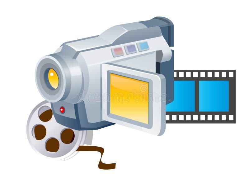 照相机录影 向量例证