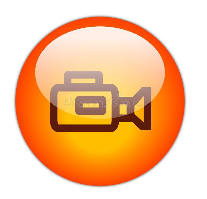 照相机录影 库存例证
