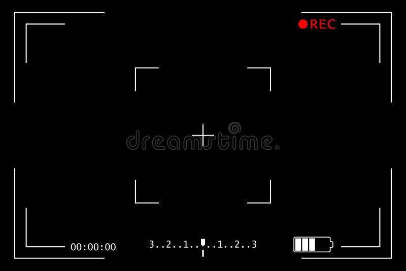 照相机录音屏幕 皇族释放例证