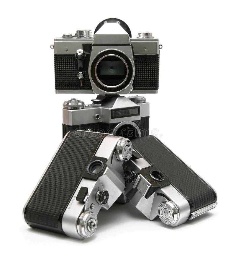 照相机影片层次结构老slr 免版税库存照片